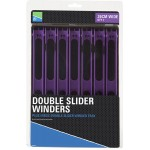 Double Slider Winders 26 См Wide Purple-Tray