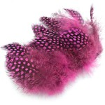Hareline Strung Guinea Feathers #188 Hot Pink