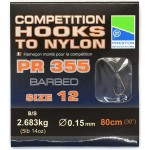 Preston Competition 355 Hooks To Nylon 12