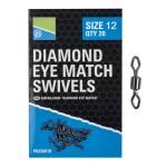 Diamond Eye Match Swivels - 12