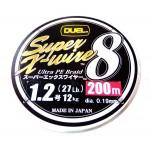 Duel Super X-Wire 8 5 Color #1.2/200