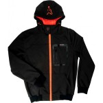 Softshell Hoddy Black/Orange