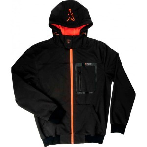 Fox Softshell Hoddy Black/Orange