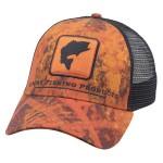 Bass Icon Trucker Hat - Velocity Print Orange