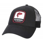 Bass Patch Trucker Hat - Black