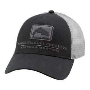 Trout Icon Trucker Hat - Black