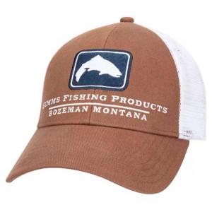 Trout Icon Trucker Hat - Mocha