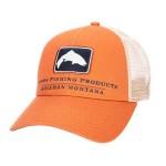 Trout Icon Trucker Hat - Orange