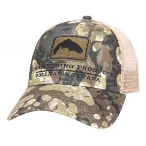 Trout Icon Trucker Hat - Riparian Camo