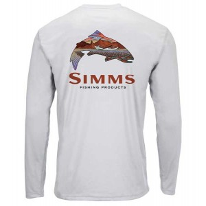 Simms Solar Tech Tee - Simms Troutscape Sterling