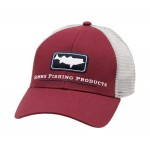 Striper Icon Trucker Hat - Rusty Red