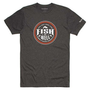 Simms Fish It Well T-Shirt - Charcoal Heather