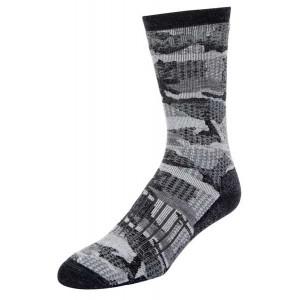 Simms Merino Midweight Hiker Sock - Hex Flo Camo Carbon L
