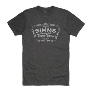 Simms Montana Style T-Shirt - Charcoal Heather