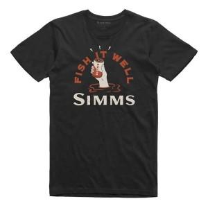 Simms Cheers Fish It Well T-Shirt - Black