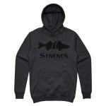 Simms Walleye Logo Hoody - Charcoal Heather