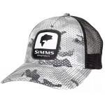 Bass Patch Trucker Hat - Hex Flo Camo Steel
