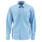 Simms Albie Fishing Shirt - Faded Denim