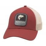 Bass Patch Trucker Hat - Rusty Red
