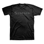 Simms Logo T-Shirt - Black