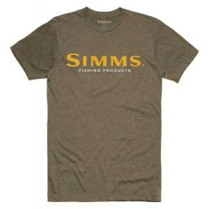 Simms Logo T-Shirt - Olive Heather