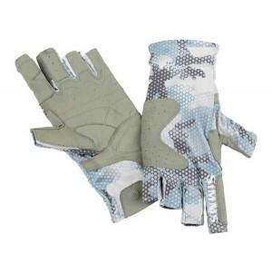 Simms SolarFlex Guide Glove - Hex Flo Camo Grey Blue