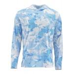 Simms SolarFlex Hoody Print - Cloud Camo Blue