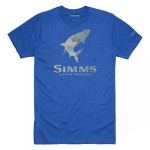 Simms Tarpon Hex Flo Camo T-Shirt - Royal Heather